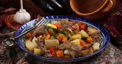 Димляма (дымляма) - Овощное рагу с бараниной по-узбекски