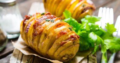 Запечённый картофель с сыром и беконом