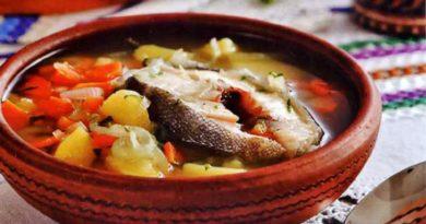 Зама из рыбы - Молдавский суп