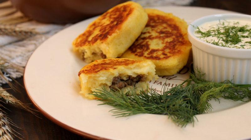 Жемайчю блинай - Картофельные зразы с мясной начинкой по-литовски