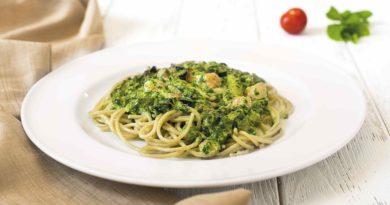 Паста с соусом из горгонзолы и шпината по-итальянски