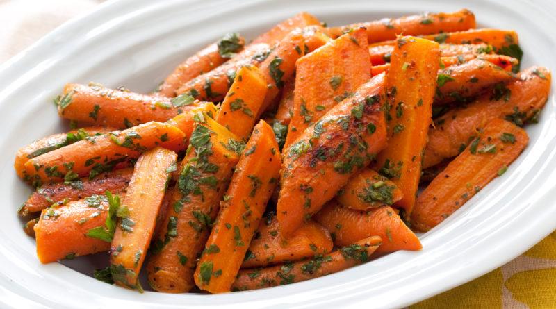 Глазированная молодая морковь и Глазированная свинина