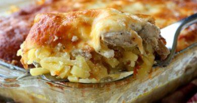 Гаше из картофеля с грудинкой - Запеканка по-французски