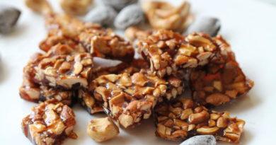 Грильяж с арахисом и миндалём