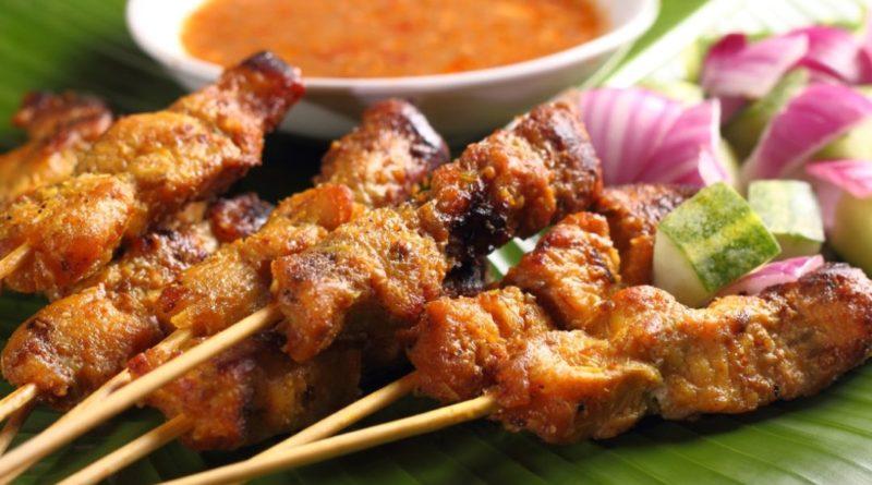 Сатей (сате) - Шашлычки из курицы с арахисовым соусом по-малазийски
