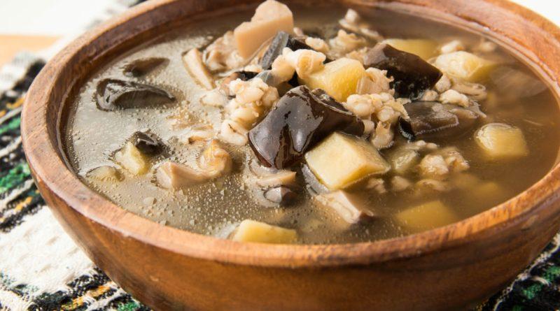 Суп из сушёных подосиновиков