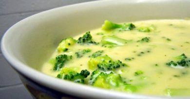 Суп с плавленым сыром и брокколи и соус из плавленного сыра