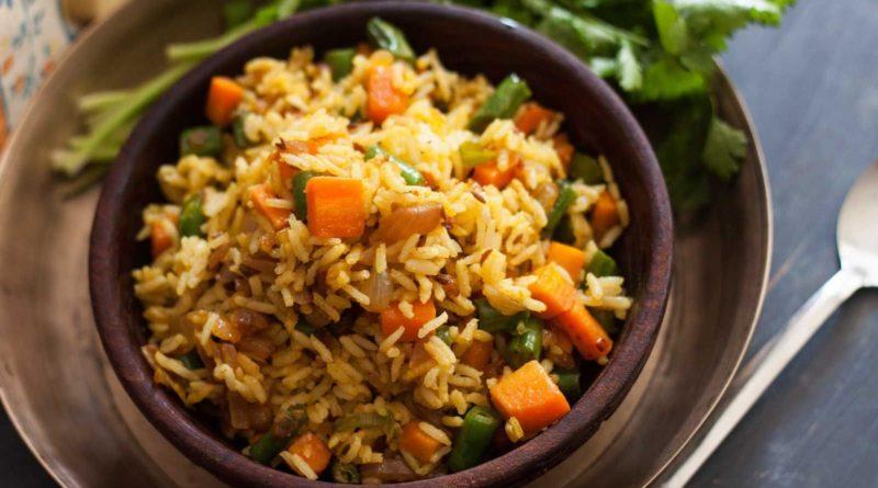 Вегетарианский пулао по-индийски