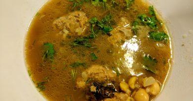 Хамраши - Азербайджанский суп с фасолью и фрикадельками