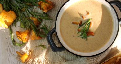 Финский суп из лисичек
