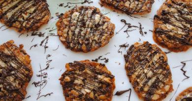 Флорентийское печенье - Итальянское печенье с орехами, цукатами и шоколадной глазурью