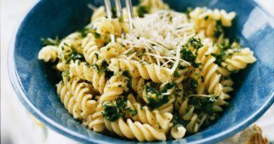 Фузилли со сливочно-шпинатным соусом - Паста по-итальянски