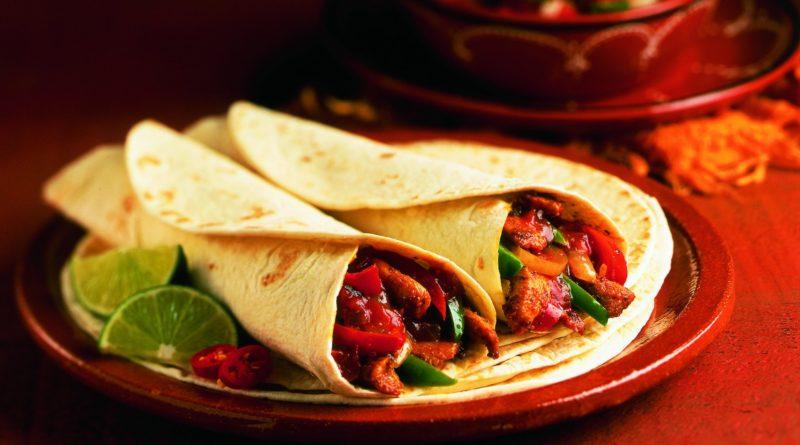 Тортильи с говядиной (шаурма) по-мексикански