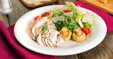«То́ ска» - Итальянский салат с куриной грудкой и грибами